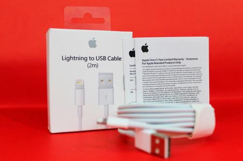 07c8ba85ff1 Cargador Apple + Cable 2 Metros Original iPhone 5 6 7