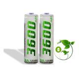 Pilas Baterias Recargables Aa 1.2v 3600mah X2