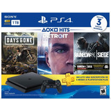 Consola Ps4 Slim 1.000gb + 3 Juegos + 3 Meses Plus