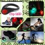 Luz Led Clips Zapatos Tenis Bicicleta Trotar Moto Par Pack 2