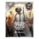Tarjeta Pubg Mobile Uc 600+60 Original Envio En Minutos
