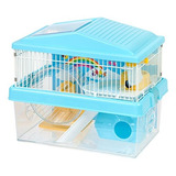 Iris Usa Hamster And Gerbil Pet Cage, 2 Niveles, Azul