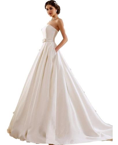d7183f61 Vestido De Novia Peincesa Nuevo Marfil Y Blanco