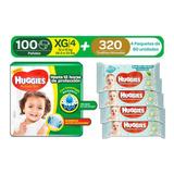 Huggies Active Sec Xg 100uds + Toa - Unidad a $1142