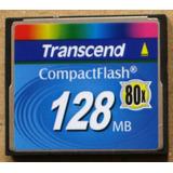 Memoria Compact Flash Transcend 128mb 80x Cf