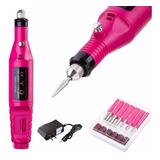 Kit Pulidor De Uñas Electrico Removedor Acrílico Manicure