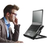 Soporte Ergonómico Reclinable Con Ventilador Portátil Laptop