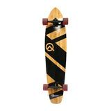Quest Super Cruiser Artesanal Bamboo Longboard Skateboard, 4