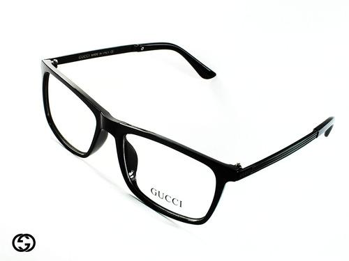 aa92032dec Montura Óptica Gucci® 52-15-139 Mm Satin Black Opt0031 Italy