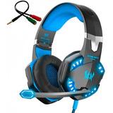 Audifonos Gamer En Diadema Kotion G2000 Microfono Usb Y Led