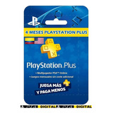 Ps Plus 120 Dias -  Playstation Plus 4 Meses | Ps4