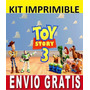 Kit Imprimible Toy Story 3 Diseña Invitaciones Y Tarjetas
