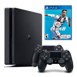 Playstation 4 Slim Fifa 19 2 Controles Envío Gratis