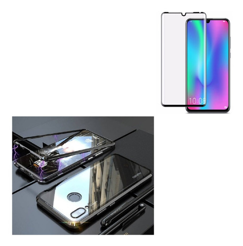 Kit  Magnetico Protector Huawei P30 Lite  + Vidrio Completo