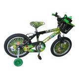 Bicicleta Para Niño Ben10  Rin 16 Niños De 4 A 7 Años