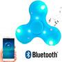 12 Unidades Fidget Spinner Bluetooth Parlante Led Negocio