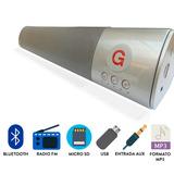 Barra De Sonido Bluetooth 40cm Parlante 12w, Usb, Fm, Sd + O