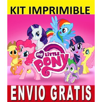 Kit Imprimible Little Pony Diseña Invitaciones Y Tarjetas