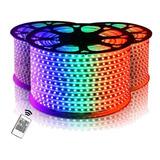 Cinta Led Rgb Multicolores Colores X 10 Mts 110v Con Control