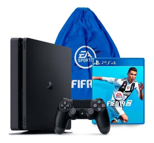 Consola Playstation 4 Slim 1tb Con Juego Fifa 19 Ps4 Tula
