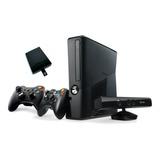 Consola Xbox 360 Slim R 5.0 Kinect Disco Duro Y 2 Controles