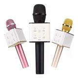 Microfono Karaoke Bluetooth Con Estuche Q7 Portátil