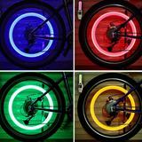 Luz Led Moto Cicla Bicicleta Tapa Válvula Neón X 2unidades