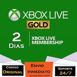 Xbox Live Gold 2 Dias Multiregion Trial Codigo
