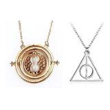 Harry Potter  Collar Reliquias Muerte +  Giratiempo