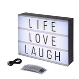 Tablero Led Con Letras Caja Luminosa Light Box Cine Ckl-1