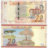 Billete Bolivia 20 Bolivianos Año 2018 Papel Moneda Unc
