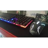 Combo Teclado Y Mouse Gamer Unitec, Trae Letra Ñ
