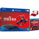 Consola Ps4 Slim 1tb + Juego Spiderman +obsequio: Gorra
