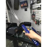 Réplica Espada Katana Funda Azul Samurai Forjada A Mano 5713