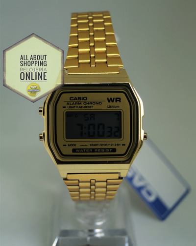 0f95ceb22798 Promo Reloj Casio A159w Dorado Negro Digital Unisex
