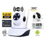 Camara Seguridad Robotica 360° Ip Wifi Vision Nocturna + Obs