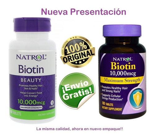 Biotin Natrol 10000mcg X 100 Tab - Original