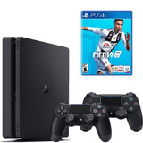 Playstation 4 Slim 2 Controles +  Fifa 19 !!disponible Ya!!