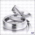 Argollas Matrimonio O Compromiso-plata Ley 950 Y Zircon C/u