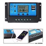 Controlador Regulador Carga Solar Dual Usb 30a 12v 24v W01