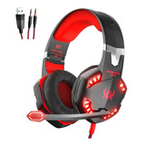 Audifonos Diadema Gamer Kotion G2000 Con Microfono Usb Y Led