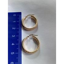 48f5ce43b06e Par Aretes Candongas Oro Corrugadas Diseño Exc Azucar 00218