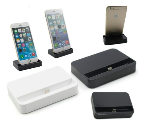 96fc6818b4b iPhone X 8 7 6 5 Base Dock Cargador Escritorio Con Cable Usb