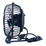 Mini Ventilador Usb Portátil Pc Silencioso Metálico Negro