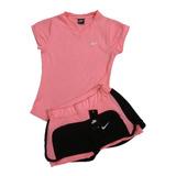 Conjunto Deportivo Dama Nike, Short + Camiseta Obsequio Gym.