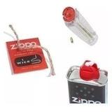 Combo Original Zippo Combustible 12 Oz+6 Piedras+mecha