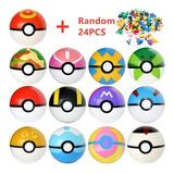 Pokebola + 25 Pokemon Sorpresa Varios Colores Disponibles