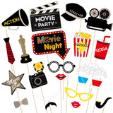Hollywood Photo Booth Props Kit Noche De Películas Phot...