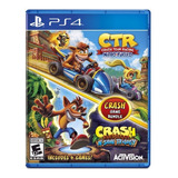 Crash Ctr Team Racing + Bandicoot Ps4 Juego 2 En 1