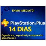 Membresias Playstation Plus Ps4 14 Dias